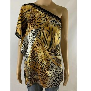 Cache One Shoulder Top Size Women's Medium